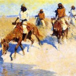Remington Paintings Frederic Pool The Desert Painting