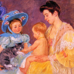 Ren Playing Cat Mary Cassatt Wikipaintings