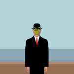 Rene Magritte Painting Stock