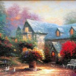 Reproduction Wall Canvas Art Oil Paintings Thomas Kinkade Painting