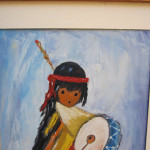 Reserved Painting Ted Grazia Pima Indian Drummer Boy Palate