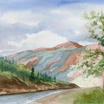 Road Silverton Watercolor Landscape Painting The