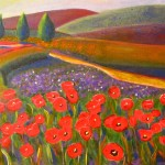Robie Benve Art Colorful Landscape Acrylic Painting Tulips