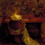 Romantic Painting Thomas Wilmer Dewing The Spinet Solo