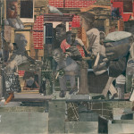 Romare Bearden American The Dove Cut And Pasted