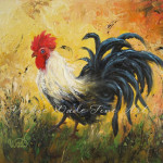 Rooster Original Oil Painting Paintings Chicken