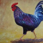 Rooster Painting Inspired That Lived The Beach