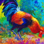 Rooster Painting Marion Rose Scratchin Fine Art