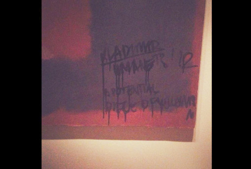 Rothko Mural Defaced Vandal Who Scrawled Graffiti The Painting