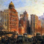 Rush Hour New York City Painting Acolin Campbell Cooper Paintings