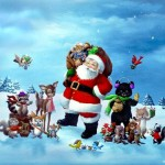 Santa Claus Oil Paintings Christmas Scenes Painting For