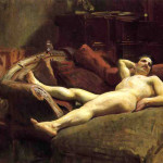 Sargent Oil Painting Reproductions Male Model Resting