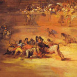 Scene Bullfight Francisco Goya Paintings Art Picture
