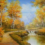 Scenery Oil Painting Drop Ship Birch Forest