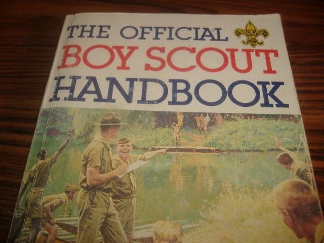 Scout Handbook Norman Rockwell Vintage Art Manual Book Cover Bsa Guide