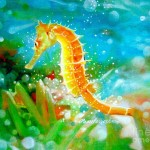 Seahorse Painting Pamela Roehm Fine Art Prints And