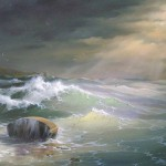 Seascape Painting Boat Oil