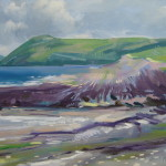 Seascape Painting Manorbier Beach Wales