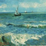 Seascape Saintes Maries Painting Vincent Van Gogh Oil