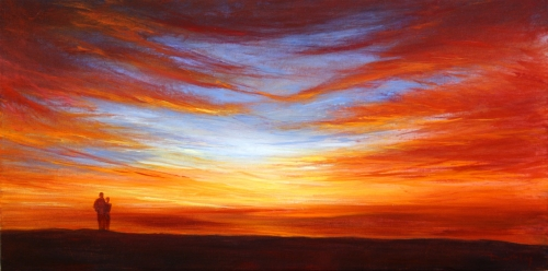 Seascape Sunset Paintings Stella Dunkley New Painting