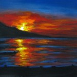 Seascapes Gallery Art For Sale Sunset Seascape Acrylic Painting