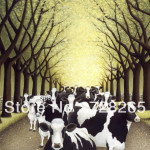 Sell Well Original Best Quality Handpainted Animal Cattle Oil Painting