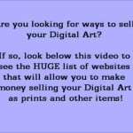 Sell Your Digital Art Drawings Paintings How