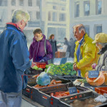 Selling Vegetables The Market Painting