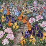 Serson Art Garden Delight Impressionistic Painting