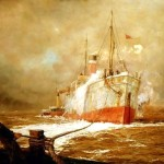 Ship William Lionel Wyllie Oil Painting Reproduction Art