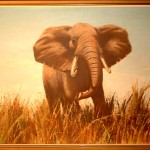 Shop Home Art Charging Elephant Painting Vic Andrews