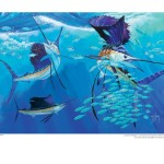 Signed Guy Harvey Poster Greater Miami Billfish Tournament