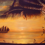 Silhouette Painting Ronald Haber Sunset Fine Art