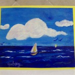 Simple Painting Sailboats The Sea