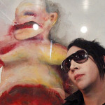 Singer Marilyn Manson Poses One His Paintings Vienna