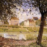 Sisley Oil Painting Reproductions Villeneuve Garenne