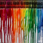 Sister Dipity Melted Crayon Art