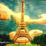 Sketchbook Allidraw Sketches Maninder Eiffel Tower Painting
