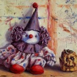 Small Paintings Clown And Applehead