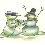 Snowman Funny Just Few Paintings Drawings Painting Oil
