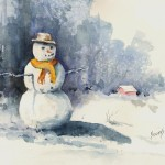 Snowman Painting Sam Sidders Fine Art Prints And Posters
