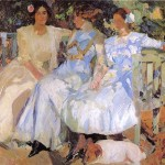 Sorolla Wife And Daughters The Garden Joaquin