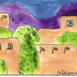 Southwest Adobes Original Aceo Painting Nancy Denommee From Art