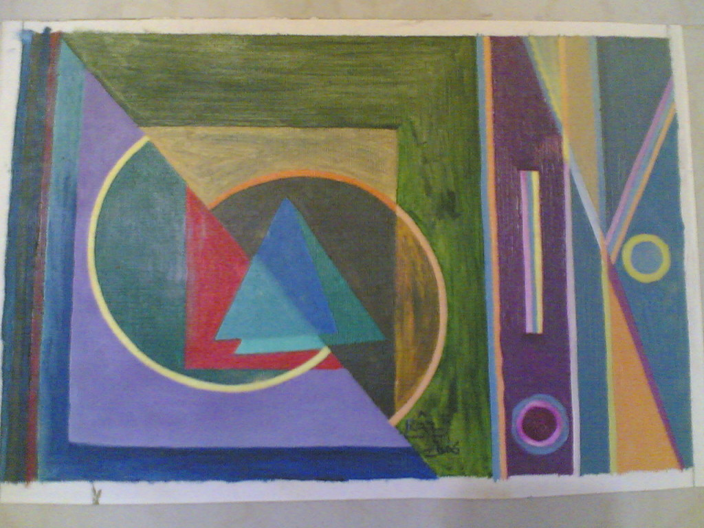 Spiritual Abstract Painting Cubism Paintings