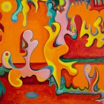 Stephen Sacklarian Abstract Acrylic Painting Untitled Stdibs