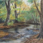 Stig Paintings First Oil Pastel Landscape