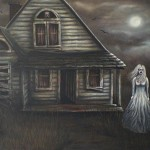 Still Welcome You Original Haunted House Painting Signed Sealed Also