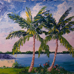 Stormy Art And Daily Paintings Painting Palm Tree Pair