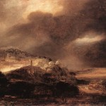 Stormy Landscape Rembrandt Wikipaintings