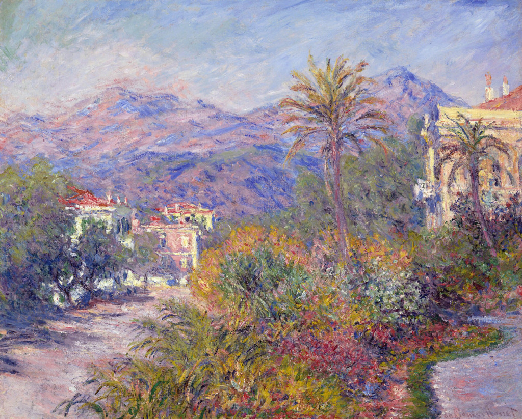 Strada Romada Bordighera Claude Monet Wikipaintings